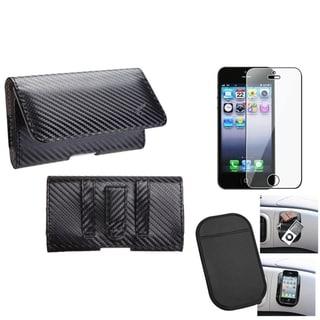 INSTEN Anti-slip Mat/ Braided Pouch 2801 for Apple iPhone 5/ 5S/ SE