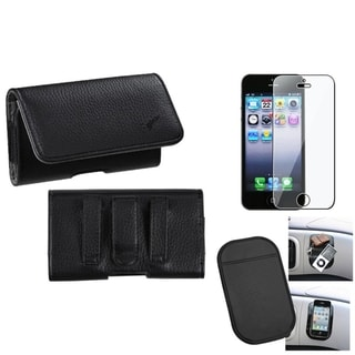 INSTEN Clear Screen Protector/ Anti-slip Mat/ Pouch for Apple iPhone 5