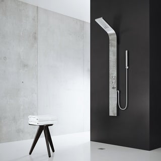 VIGO Chrome Shower Panel with Rain Head Massage System (3 options available)