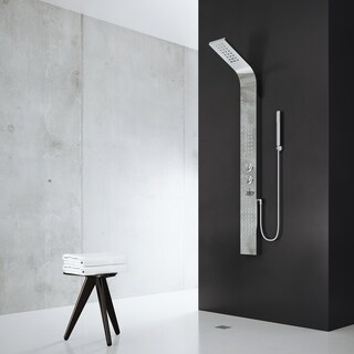 VIGO Chrome Shower Panel with Rain Head Massage System