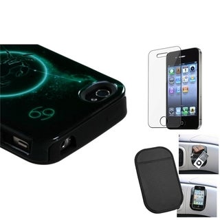 INSTEN Clear Screen Protector/ Anti-slip Mat/ Phone Case Cover for Apple iPhone 4/ 4S