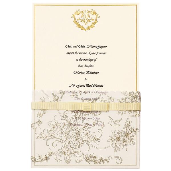 Invitation Kit 25PkgGold Wedding Toile Free Shipping On Orders – Gold Wedding Invitation Kit