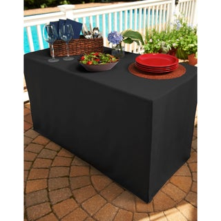 Black Folding Table Tablecloth (2 options available)