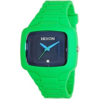 Nixon Men's 'Player' Green Silicone Watch