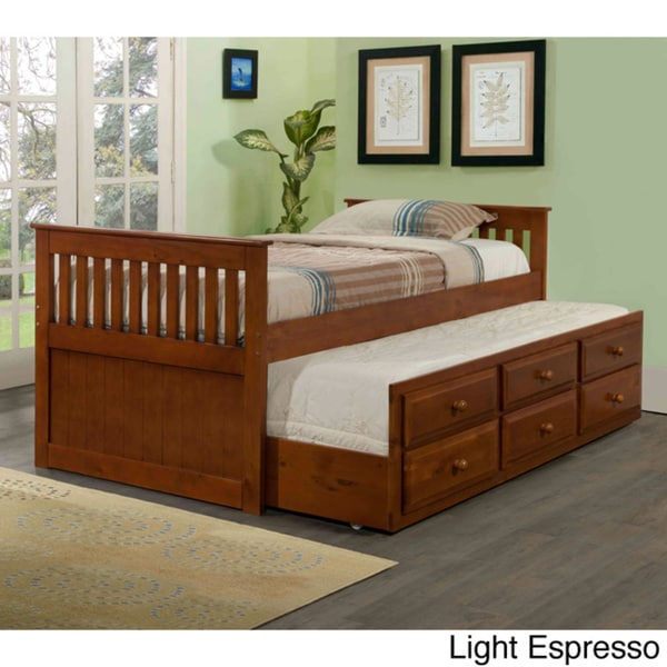 Donco Kids Mission Captains Trundle Twin Bed