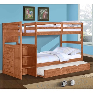 Donco Kids Cinnamon Ranch Stairway Bunkbed