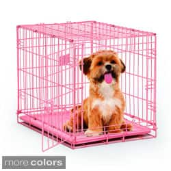 MidWest iCrate Wire Pet Dog Crate (Option: Pink)|https://ak1.ostkcdn.com/images/products/8254812/MidWest-iCrate-Wire-Pet-Dog-Crate-P15580385.jpg?impolicy=medium