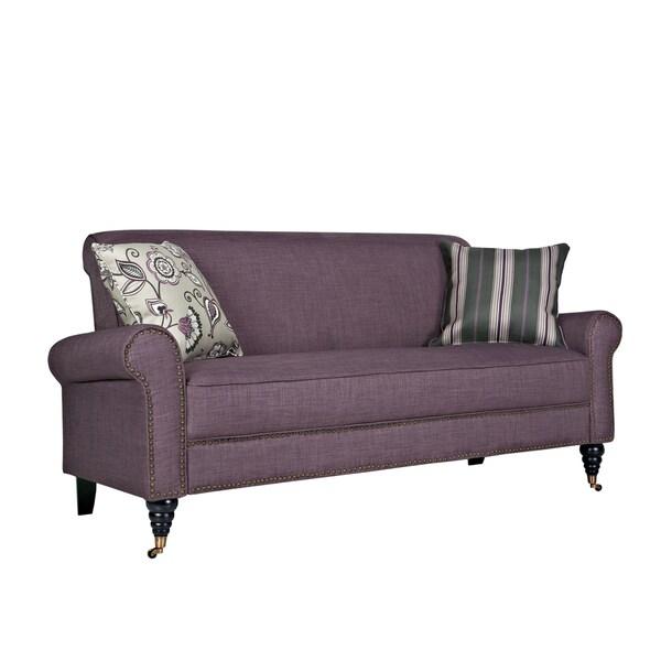 Better Living Hyde Purple Twill Sofa