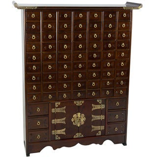 Handmade Korean Antique Style 69-Drawer Apothecary Chest (Korea)