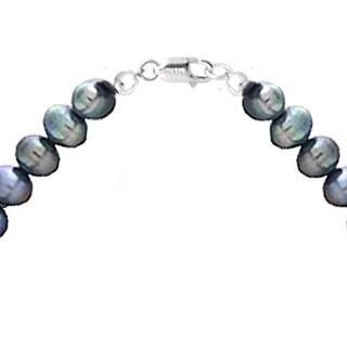 Glitzy Rocks Silvertone FW Pearl and Crystal Bar Necklace (8-9 mm)