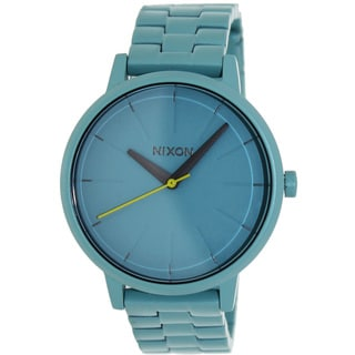Nixon Women's Kensington A099272-00 Blue Stainless-Steel Quartz Watch with Blue Dial