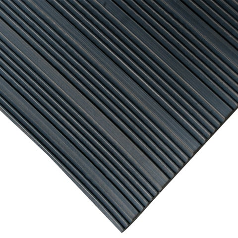 Rubber-Cal 'Composite Rib' 36-inch Wide Black Anti-slip Rubber Mat - 36 x 180