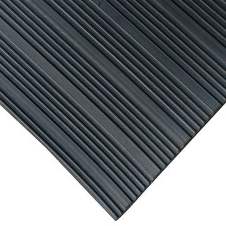 Rubber-Cal 'Composite Rib' 36-inch Wide Black Anti-slip Rubber Mat (2 options available)