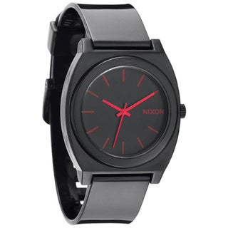 Nixon Men's 'Time Teller' Black Plastic Watch