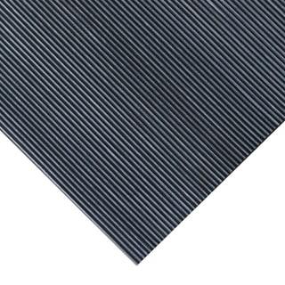 Rubber-Cal 'Fine Rib' 36-inch Wide Black Rubber Flooring Mat (3' x 20')
