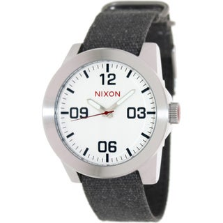 Nixon Men's 'Corporal' Black Cloth Strap Watch