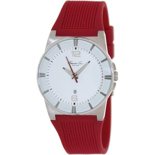 Kenneth Cole Women's White Dial Red Silicone Quartz Watch
