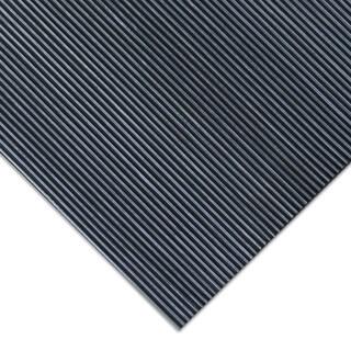 Rubber-Cal 'Fine Rib' 48-inch Wide Black Rubber Flooring Mat (4' x 15')