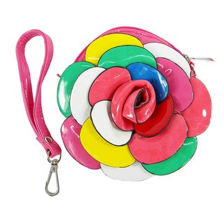 Dahlia Flower Multicolor Coin Purse