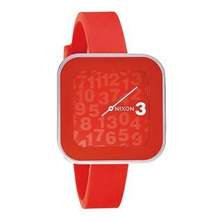 Nixon Women's Rocio Red Silicone Red Dial Quartz Watch