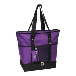 Everest Deluxe Shopping Tote (Set of 2) Dark Purple/Black