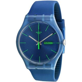 Swatch Men's Originals SUON700 Blue Silicone Quartz Watch with Blue Dial