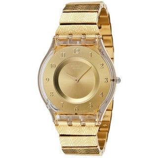 Swatch Women's Skin SFK355G Gold Stainless-Steel Swiss Quartz Watch with Gold Dial