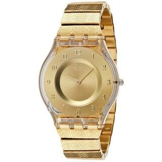 Swatch Women's Skin SFK355G Gold Stainless-Steel Swiss Quartz Watch with Gold Dial