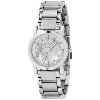DKNY Women's NY4519 Silver Stainless-Steel Quartz Watch with Mother-Of-Pearl Dial