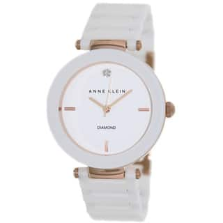 Anne Klein Women's AK-1018RGWT White Ceramic Quartz Watch with White Dial|https://ak1.ostkcdn.com/images/products/8258534/8258534/Anne-Klein-Womens-AK-1018RGWT-White-Ceramic-Quartz-Watch-with-White-Dial-P15583248.jpg?impolicy=medium