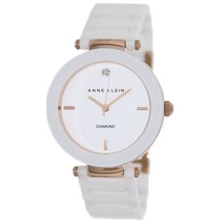 Anne Klein Women's AK-1018RGWT White Ceramic Quartz Watch with White Dial