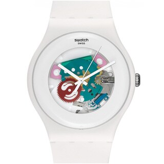 Swatch Women's Originals SUOW100 White Plastic Quartz Watch with White Dial