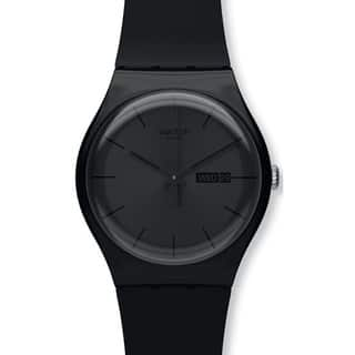 Swatch Men's Originals SUOB702 Black Silicone Quartz Watch with Black Dial|https://ak1.ostkcdn.com/images/products/8258568/8258568/Swatch-Mens-Originals-SUOB702-Black-Silicone-Quartz-Watch-with-Black-Dial-P15583261.jpg?impolicy=medium