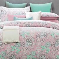 Shop mi zone elie seafoam printed comforter set with embroidery and everrouge flower power 8 piece comforter set mightylinksfo