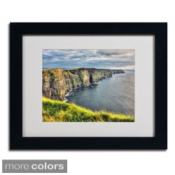 Pierre Leclerc 'Cliffs of Moher Ireland' Framed Matted Art