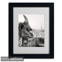 Pierre Leclerc 'Gargoyle Paris' Framed Matted Art