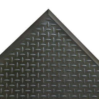 Rubber-Cal Foot Rest Rubber Comfort Mats  1/2 x 28 x 31-inch  Black Anti-Fatigue Floor Mats