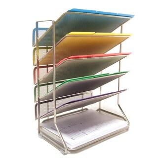 Seville Classics Mesh Letter 6-Tray Desk Wall Organizer