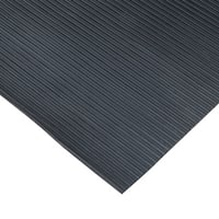 "Rubber-Cal ""Ramp-Cleat"" Traction Mats – 1/8-inch x 3ft. Wide Rubber Runners – Black – Offered in 7 Lengths"