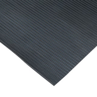 """Rubber-Cal """"Ramp-Cleat"""" Traction Mats – 1/8-inch x 3ft. Wide Rubber Runners – Black – Offered in 7 Lengths"""