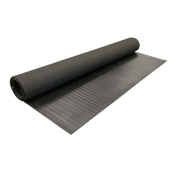 rubbercal wide rib rubber flooring rolls 18 x 4ft wide nonslip floors black offered in 5 lengths free shipping today