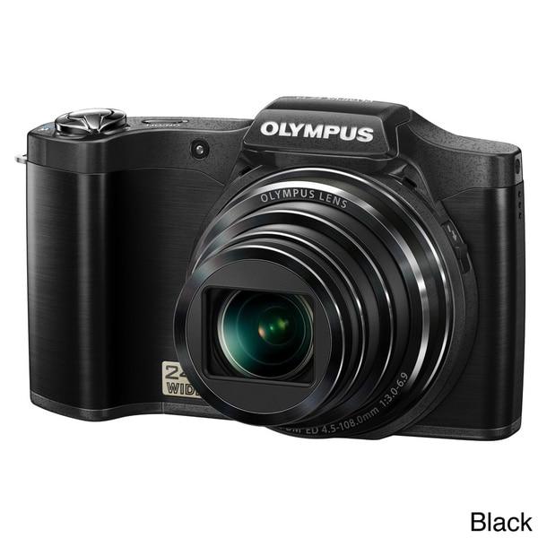 Olympus SZ14 14MP Digital Camera with Deluxe Bonus Accessories Kit (Refurbished)