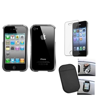 INSTEN LCD Protector/ Anti-slip Mat/ Shield for Apple iPhone 4/ 4S