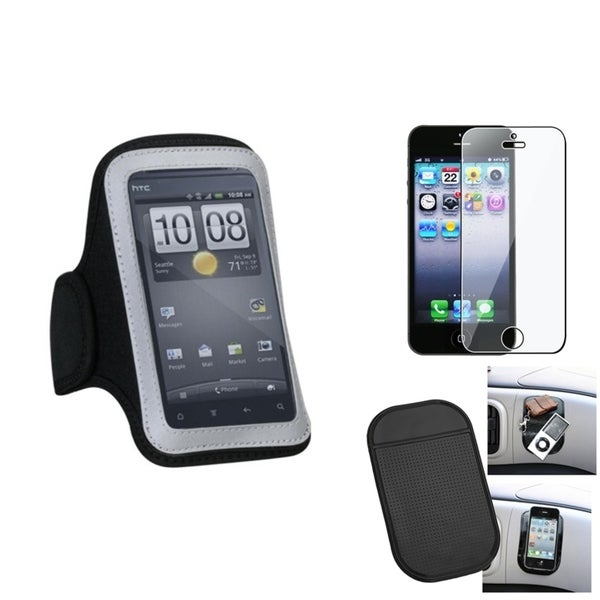 INSTEN Clear Screen Protector/ Anti-slip Mat/ Armband for Apple iPhone 5/ 5C/ 5S/ SE