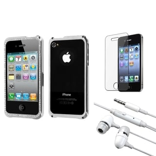 INSTEN Clear Screen Protector/ Headset/ Surround Shield for Apple iPhone 4S