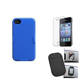 INSTEN LCD Protector/ Anti-slip Mat/ Holster for Apple iPhone 4/ 4S