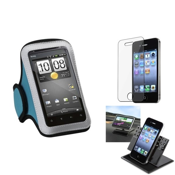 INSTEN Clear Screen Protector/ Vertical Pouch Armband for Apple iPhone 4S