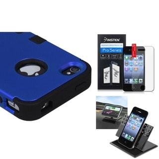 INSTEN Car Dashboard Holder/ TUFF Hybrid Phone Case Cover for Apple iPhone 4/ 4S