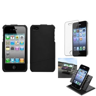 INSTEN Car Dashboard Holder/ Rubberized Phone Case Cover for Apple iPhone 4/ 4S