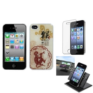 INSTEN Car Dashboard Holder/ Dream Back Phone Case Cover for Apple iPhone 4/ 4S